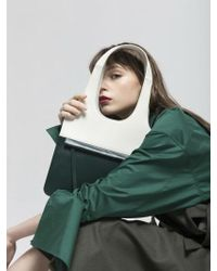 Atelier Park - Line Tote Bag_mini Deep Green - Lyst