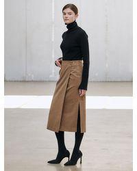 NILBY P Wrap Skirt - Brown