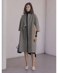 J.CHUNG Lude Fur Belt Coat - Grey