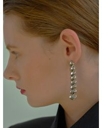 VIOLLINA - Long Glam Shell Earrings Silver - Lyst