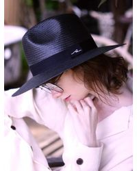 SLEEPYSLIP - [unisex] Sleeping Black Panama Hat - Lyst