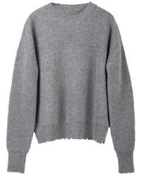 MADGOAT - Destroyed Cashmere Knit_gray - Lyst