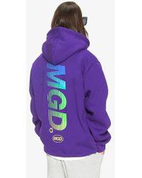 MAHAGRID Gradation Hoodie Purple