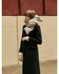 COLLABOTORY Duck Down Padded Scarf - Brown