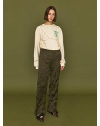HIDDEN FOREST MARKET Sully Wrinkle Banding Trousers - Green