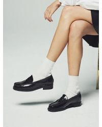 W Concept - Black Penny Loafer - Lyst