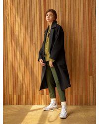 Clue de Clare Color Block Coat - Black