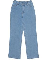 among - Denim Banding Trousers - Lyst