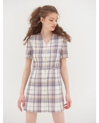 VEMVER V Neck Tailored Dress - Multicolor