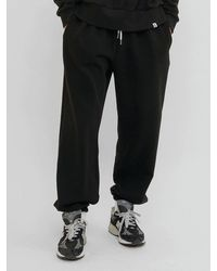 URBANDTYPE Pl121 Flag Embroidery Joggers Black