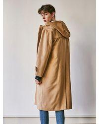 YAN13 Wool Duffle Coat - Natural