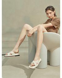 Intense Clothing Ribbon Sandal - Natural
