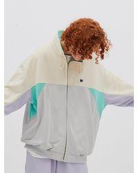 WKNDRS Cut Track Jacket Mint - Multicolour
