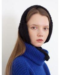 Awesome Needs Hand Made Lambs Wool Knit Ear Muff - Black