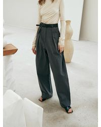 OUI MAIS NON Musee Volume Cotton Trousers - Natural