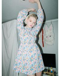 CLUT STUDIO 0 4 Blossom Hoodie Dress - Multicolour
