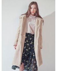 W Concept | Teddy Bear Boucle Coat Iv | Lyst