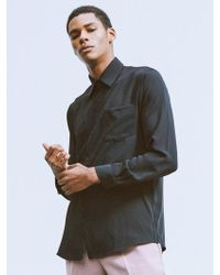 MIGNONNEUF - Mnfs Widnsor Collar Shirt Black - Lyst