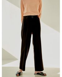 38comeoncommon Double Tuck Pants - Brown