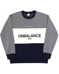 FRESH ANTI YOUTH - Unbalance-crewneck Sweater - Navy - Lyst