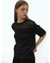 38comeoncommon Sand Half Knit () - Black