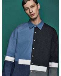 Drink Beer Save Water - Denim Panel Oversized Shirts - Lyst