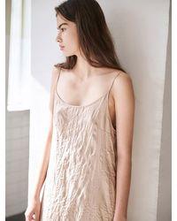 AVA MOLLI Crease Slip Dress - Natural