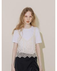 COLLABOTORY Lace Bustier - Multicolor