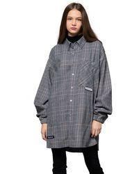 Heich Blade Heich Patch Check Long Shirt - Grey