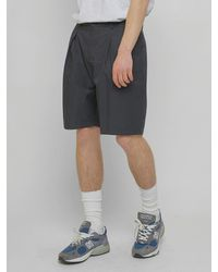 URBANDTYPE Sp080 Wide Pintuck Shorts Navy - Blue