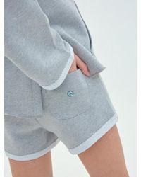 Clove Cooling Cotton Short - Gray
