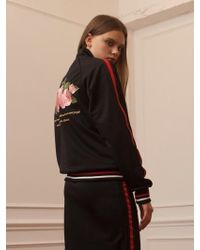 TARGETTO - Roses Jersey Jackey Black Pink - Lyst