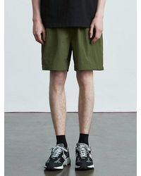 VOIEBIT V014 Nylon Banding Short Pants Beige - Natural