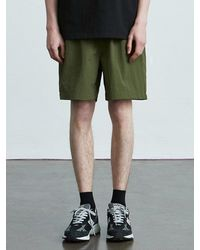 VOIEBIT V014 Nylon Banding Short Pants Khaki - Green