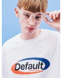 W Concept - [unisex] Sporty Logo T-shirt White - Lyst