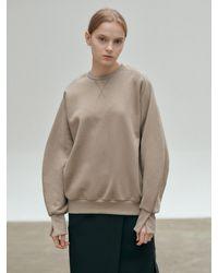 NILBY P Oversized Cotton Sweatshirt - Natural