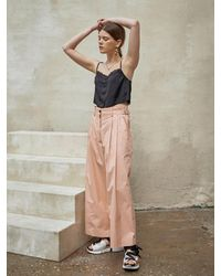 OUAHSOMMET Silky Air Two Way Pants Coral - Multicolor