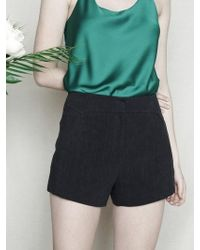W Concept - Linen Basic Short Pants Navy - Lyst