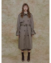 among A Oversize Trench Coat Khaki - Natural