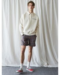 W Concept - [unisex] Ma Check Pants Gray - Lyst