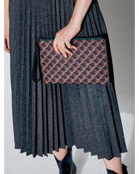 ROSA.K Cabas Monogram Clutch Bag Black