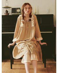 ULLALA PAJAMAS Fairy Tale Of Anne Dress - Natural