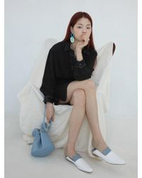 W Concept - Openleather Slipper - Baby Blue White - Lyst