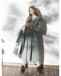 OUAHSOMMET - Embroidery Silk Dress_gr - Lyst