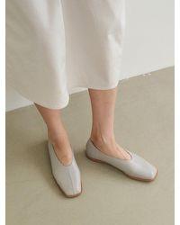 MARONY CROSHET 014 Square Toe Stitch Flat (4color) - Multicolour