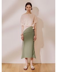J.CHUNG Panel Mermaid Skirt - Green