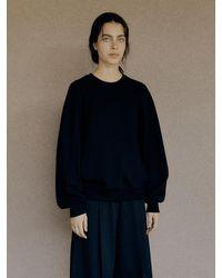 Low Classic Stitched Long Sleeve Sweatshirt (black)