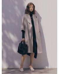 J.CHUNG Lude Fur Belt Coat - Multicolour