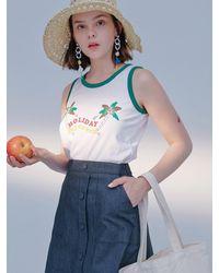 Blank Palm Summer T-shirt White