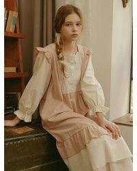 ULLALA PAJAMAS Sage Long Sleeve Dress - Pink